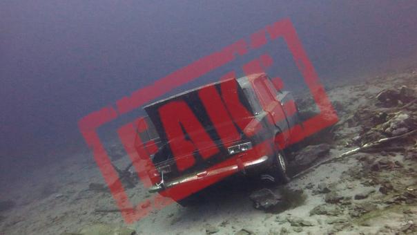 Новость про автомобиль со скелетами на дне озера в Крыму оказалась фейком — источник