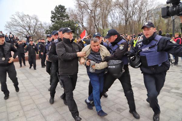 В Одессе задержали празднующих годовщину освобождения от фашистов