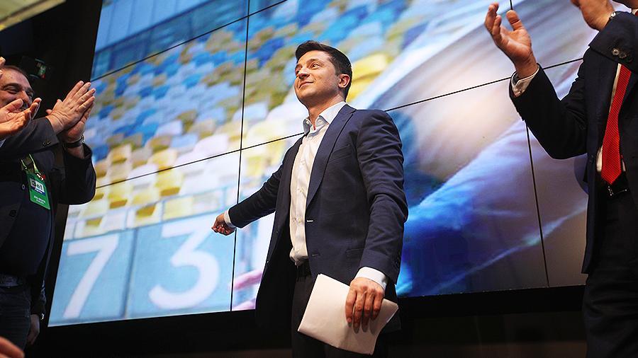 Зеленский набрал 73% голосов после обработки трех четвертей протоколов
