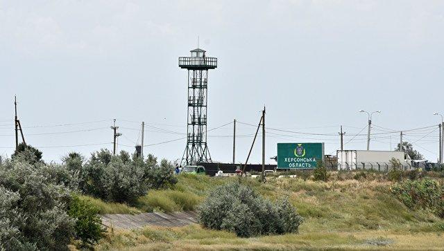 Новый глава «нацполиции по Крыму» прокатился вдоль границы с полуостровом