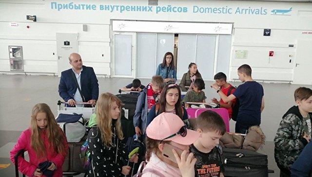 На отдых в Крым прибыли дети из Сирии