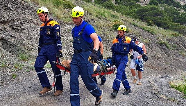 В горах Крыма пострадали две туристки