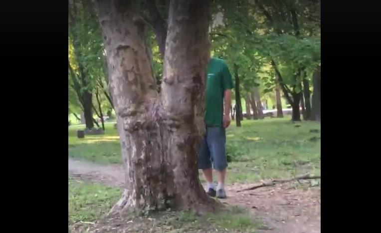 Очевидцы сняли на видео извращенца в симферопольском парке