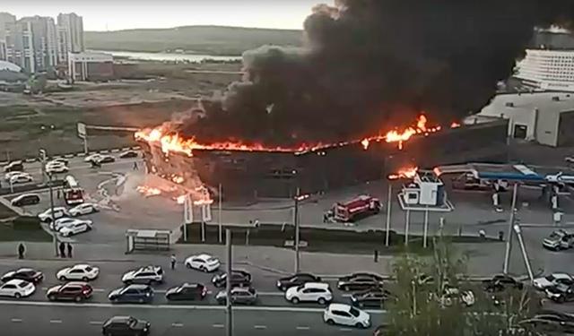 В Кемерово снова произошел крупный пожар