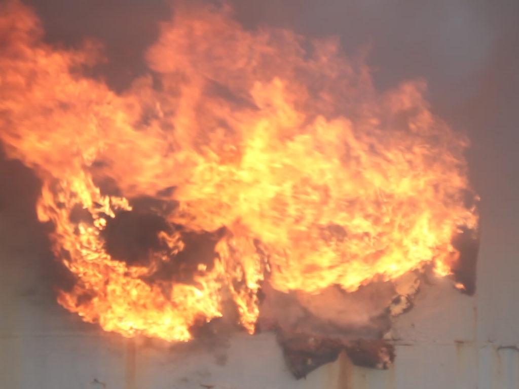 Появились фото с места пожара на танкере «Сейма» в Севастополе