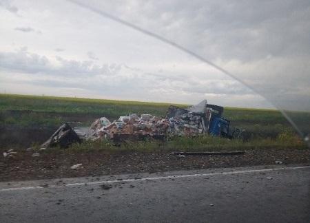 В Крыму столкнулись автобус и фура