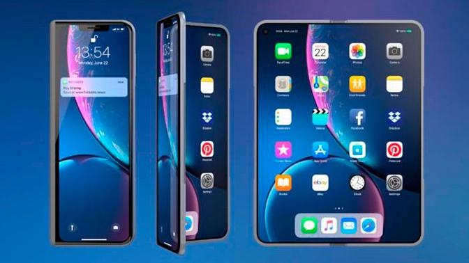 В Сети показали новый раскладной iPhone X Fold
