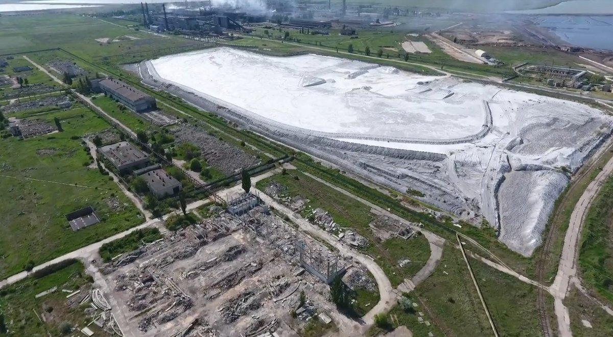 На «Крымском титане» зафиксировано повышение кислотности в озере-накопителе