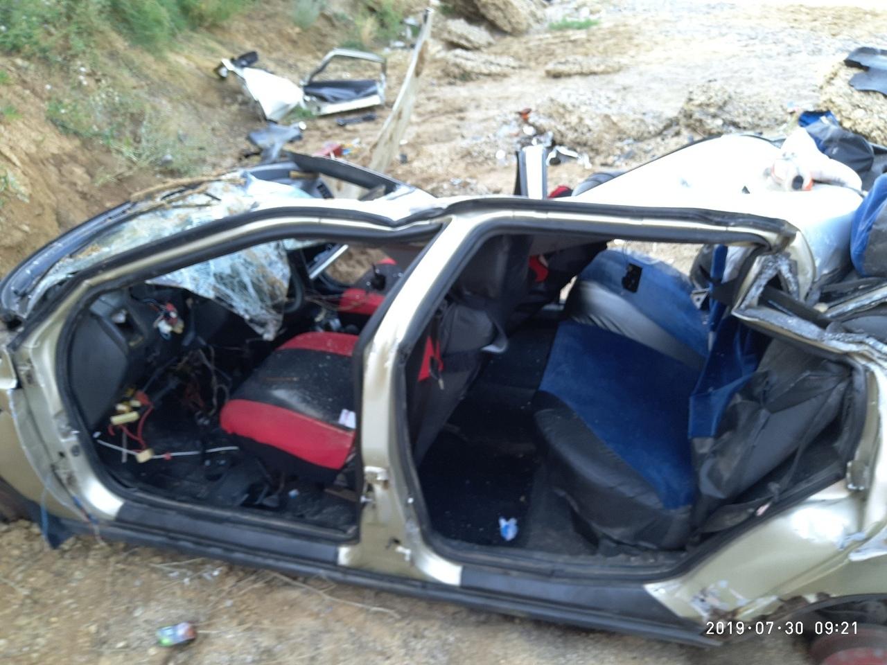 В Николаевке с большой высоты сорвался автомобиль