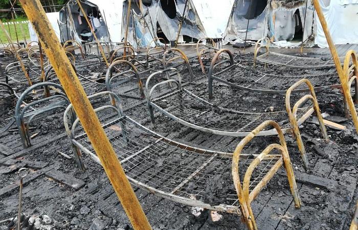 Под Хабаровском произошел пожар в палаточном лагере для детей: погибла девочка