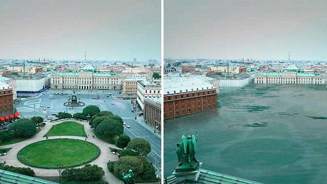 Высохший Байкал, затопленный Петербург: в Сети появились фото «состарившейся» Земли