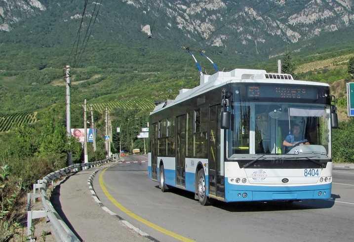 В Крыму водитель троллейбуса ехал из Симферополя в Ялту под действием наркотиков