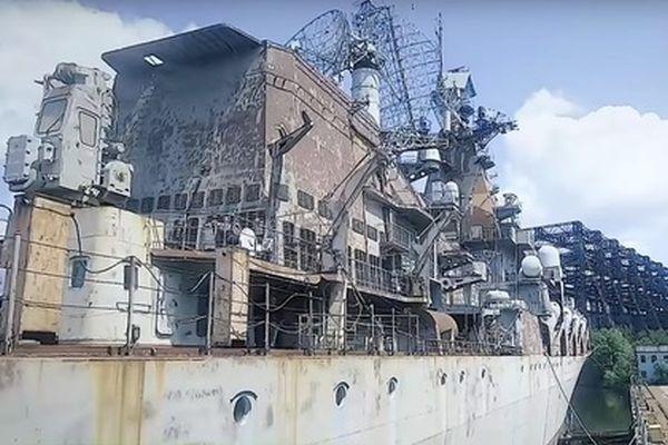 Зеленский показал ужасное состояние крейсера «Украина»