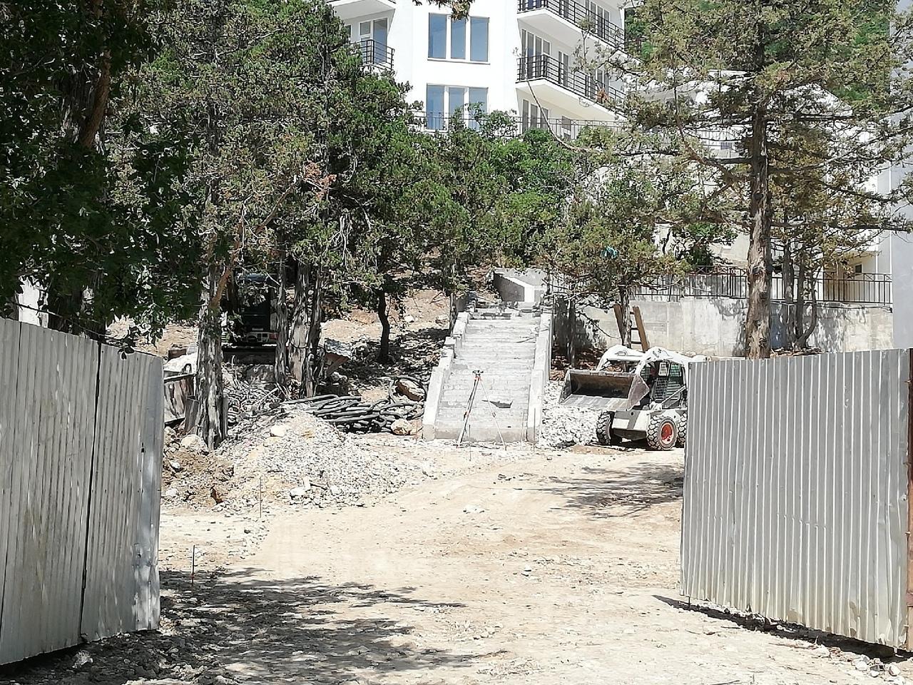 В Ласпи строители уничтожают деревья