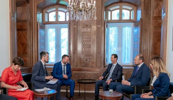 Саблин встретился с президентом Сирии Асадом