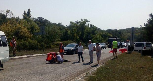 В Севастополе насмерть сбили дорожного рабочего. Водитель скрылся с места ДТП