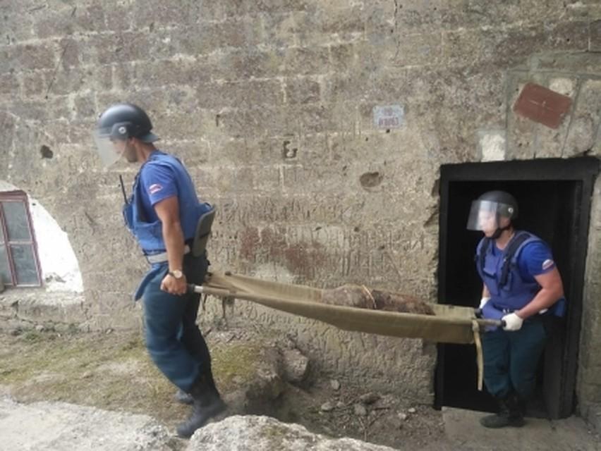 В крымской крепости нашли огромный склад боеприпасов