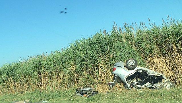 В Крыму сгорел пассажир разбитой в ДТП иномарки, 19-летний водитель в реанимации