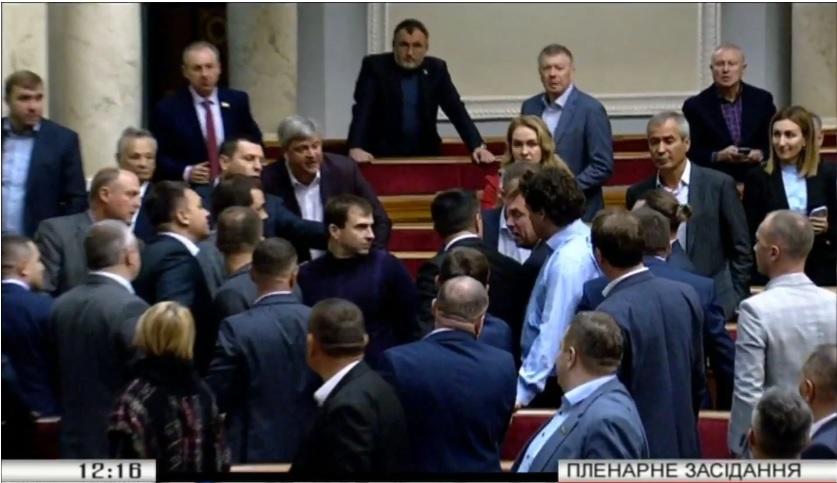 В Раде произошла первая драка между депутатами