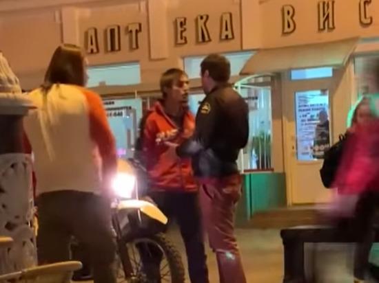 В Симферополе чеченский мотоциклист избил журналиста после замечания