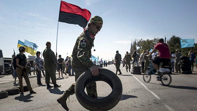 На Украине обокрали базу боевиков