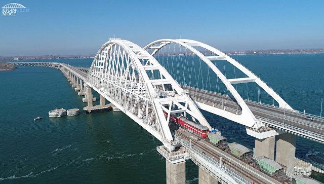 Названа дата запуска грузовых поездов по Крымскому мосту