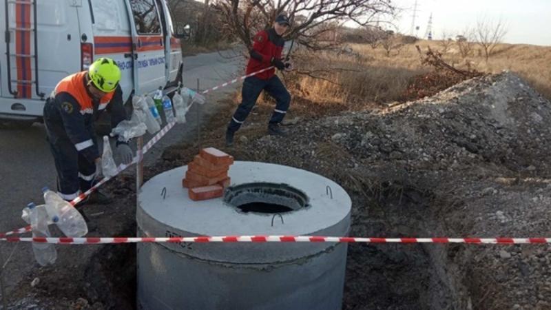 В Крыму мужчина упал в строительную яму и оказался в ловушке