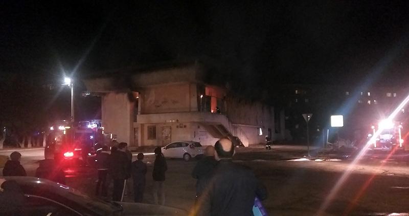 В Севастополе горел бывший ресторан