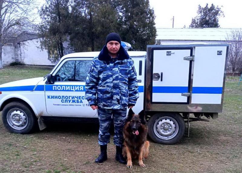 Благодаря псу Бурану в Крыму раскрыли кражу из магазина