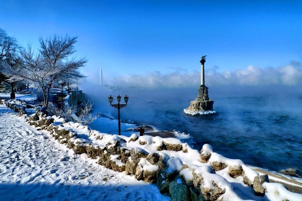На Крым надвигаются морозы и снег