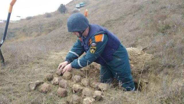 В Керчи местные жители нашли 16 взрывоопасных предметов