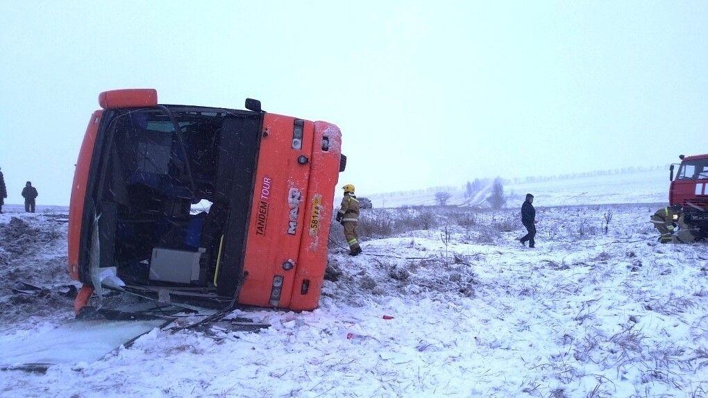 Автобус «Горловка – Севастополь» перевернулся — двое погибли