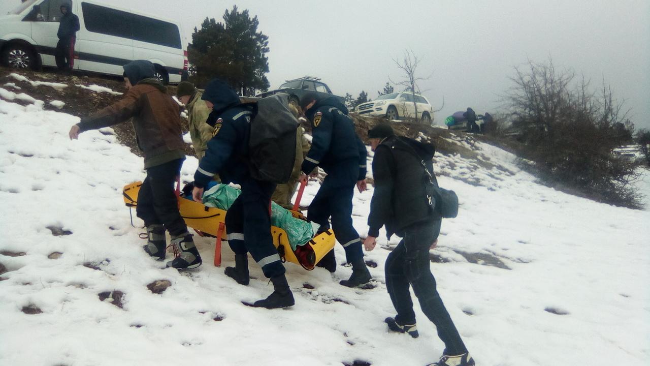 В Крыму 58-летняя женщина получила травму спины, головы и грудной клетки при катании на сноутюбе