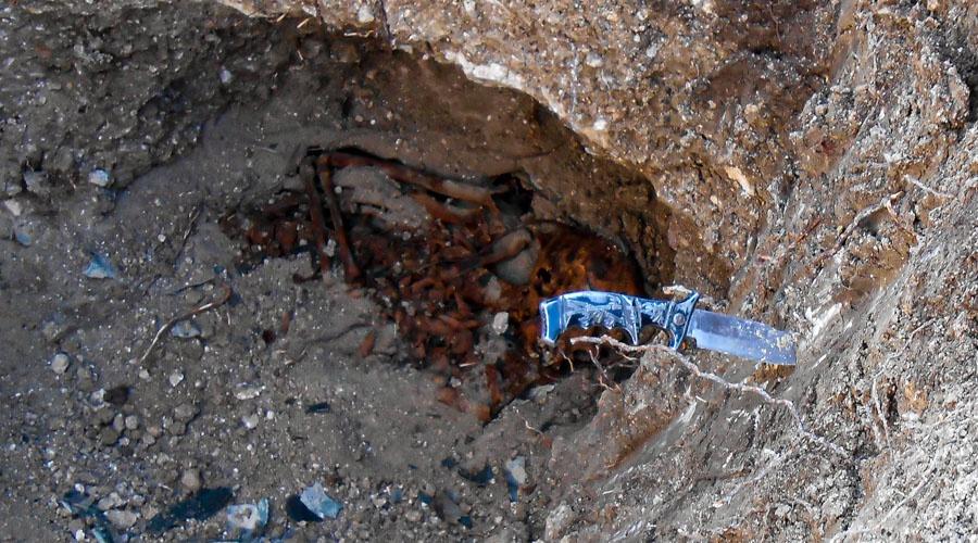 На площади Ушакова в Севастополе найдены останки еще одного солдата