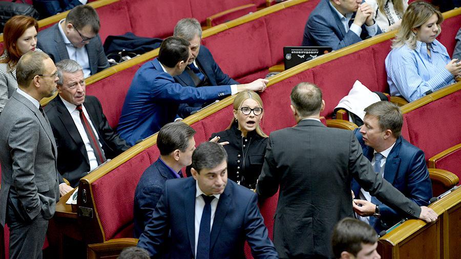 Тимошенко поранилась во время драки на заседании Верховной рады