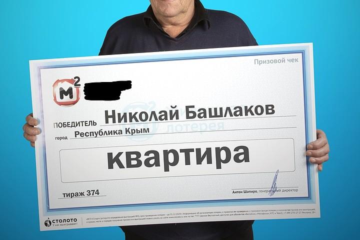 Крымчанин выиграл квартиру за 1,5 миллиона в лотерею