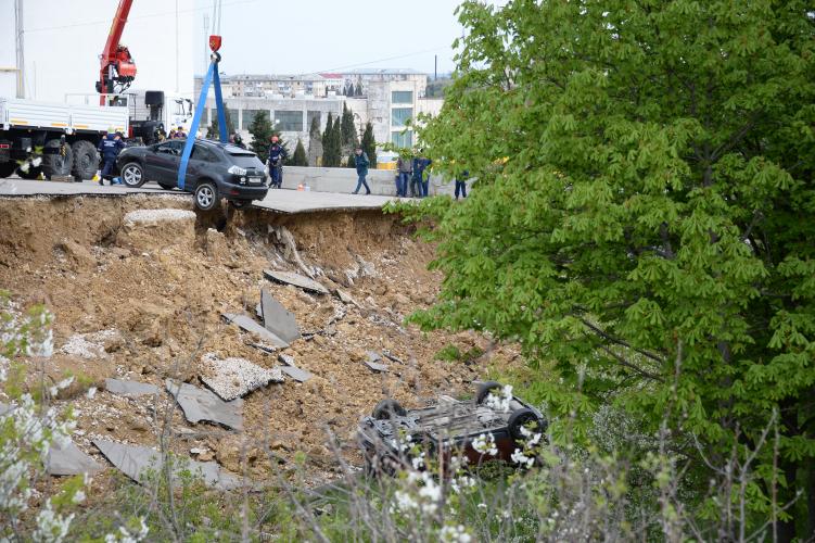 На ремонт обвалившейся подпорной стены на проспекте Победы выделен 1 миллион рублей