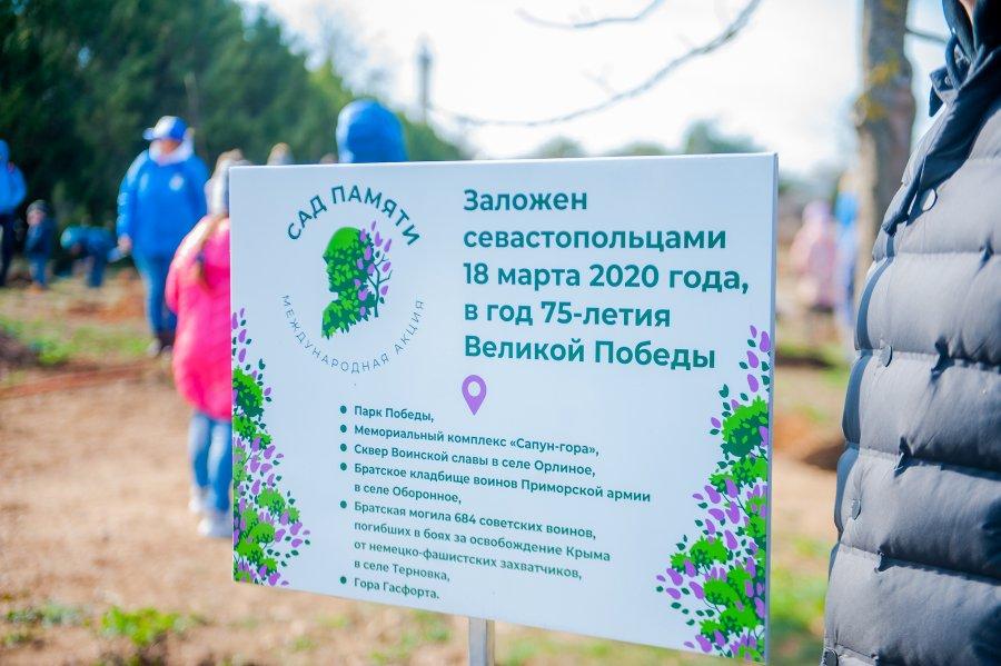 В Севастополе стартовала Всероссийская акция «Сад памяти»
