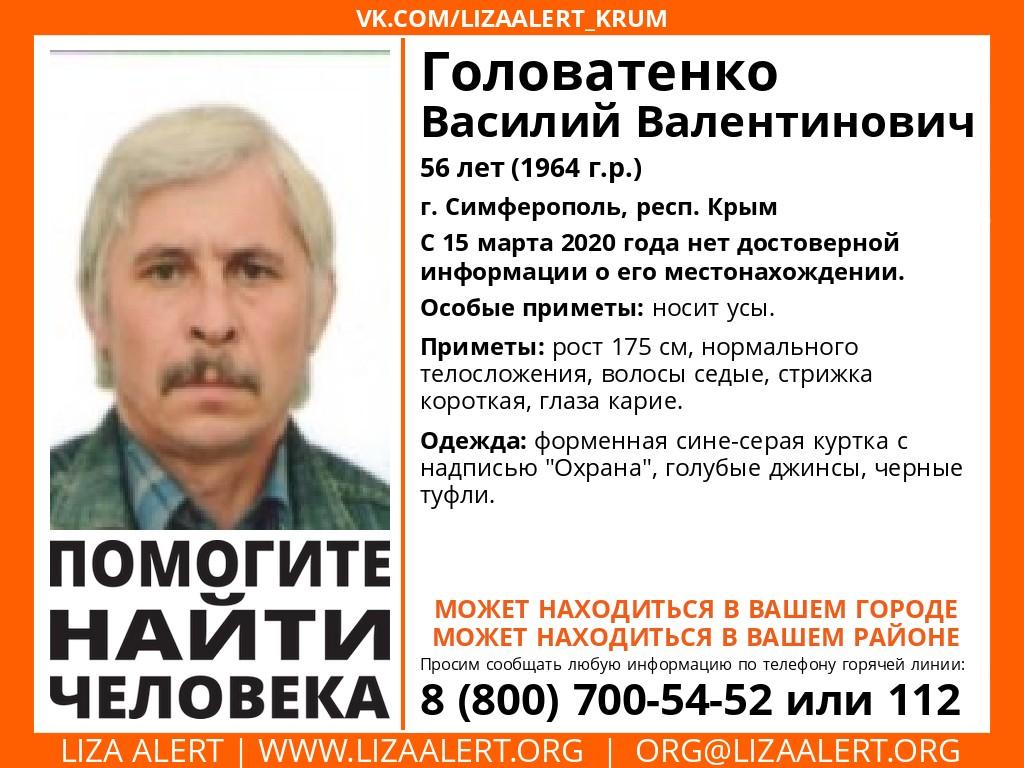 Куртка с надписью «Охрана»: в Крыму без вести пропал 56-летний мужчина