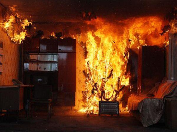 В Крыму на пожаре в квартире заживо сгорела пара пенсионеров