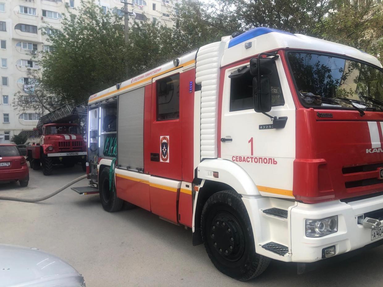 Из-за пожара в Севастополе эвакуировали 80 человек и двух домашних питомцев