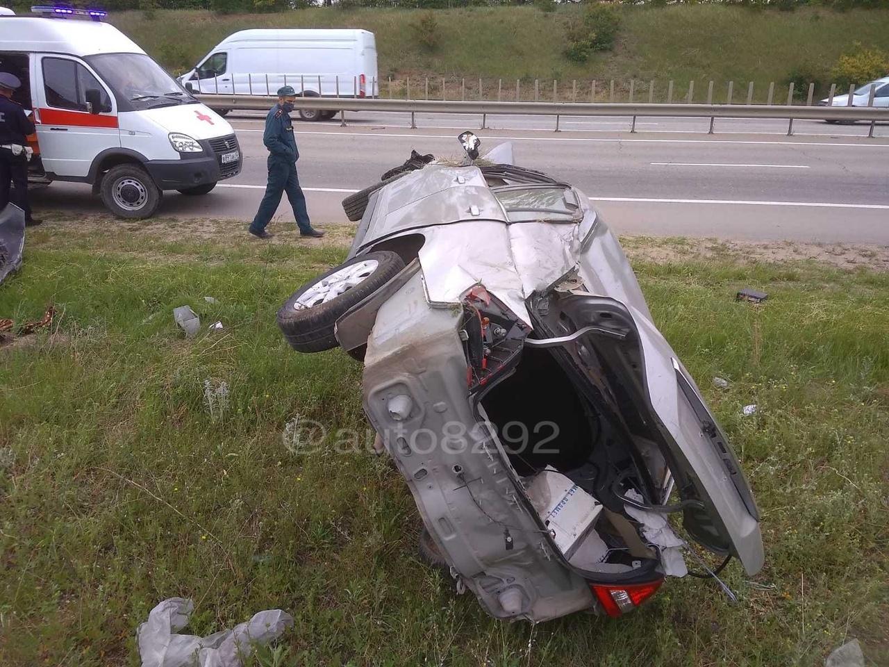 Водитель пострадал в ДТП на трассе Ялта-Симферополь