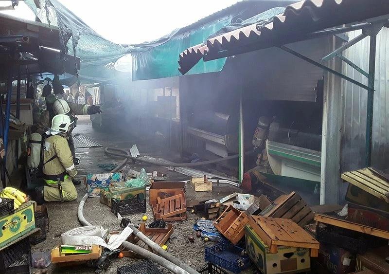 На 5 километре в Севастополе загорелся рынок