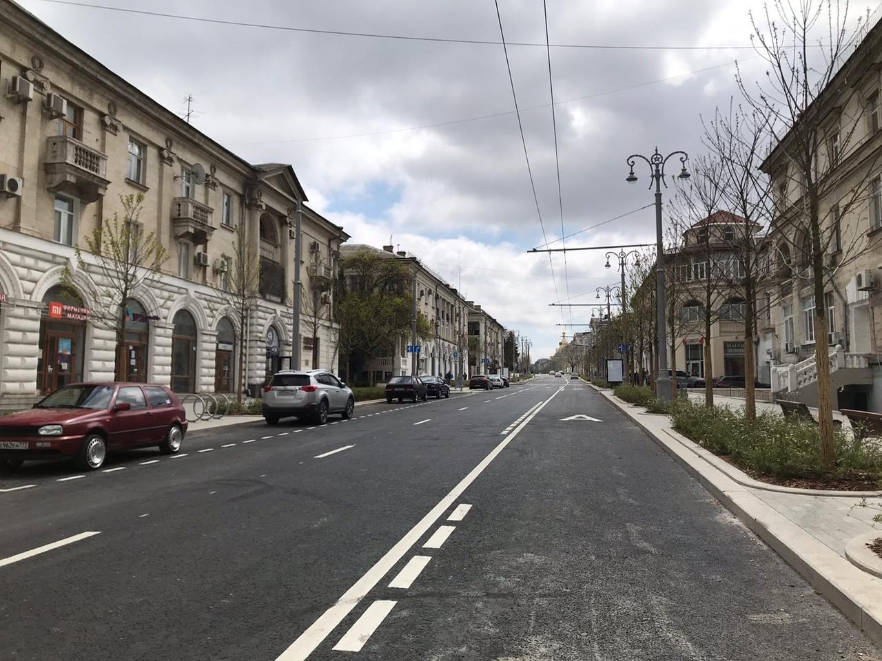 На Большой Морской в Севастополе вводится ограничение максимальной скорости движения
