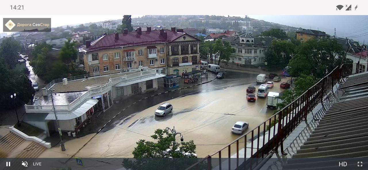 В Севастополе за 50 минут выпала треть месячной нормы осадков