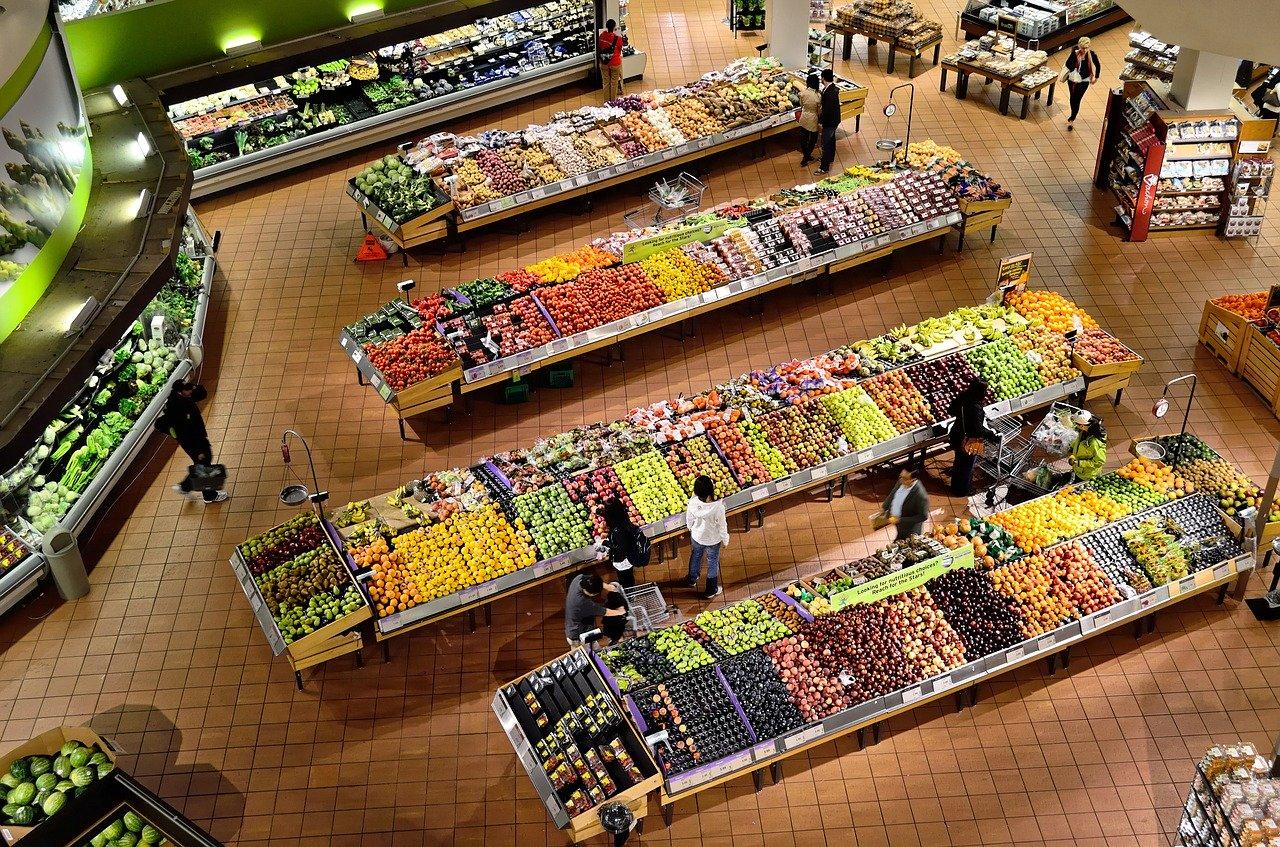 В супермаркетах