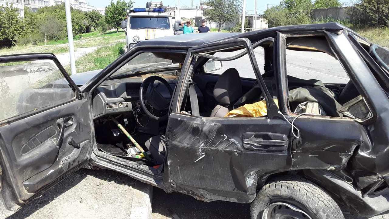 Водитель Skoda получил травму ноги в ДТП в Феодосии