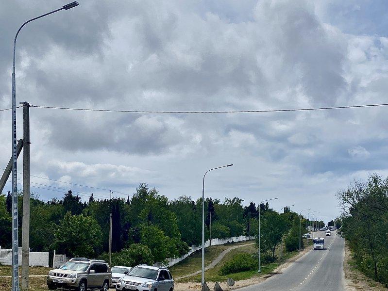 На Фиолентовском шоссе впервые появилось освещение