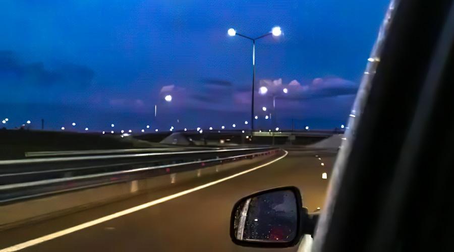 На трассе «Таврида» начали тестировать искусственное освещение