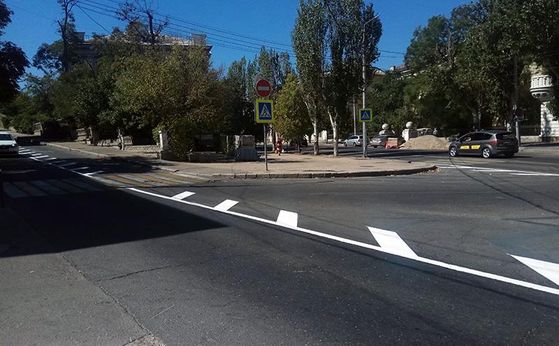 В Севастополе обезопасили аварийный участок на улице Гоголя